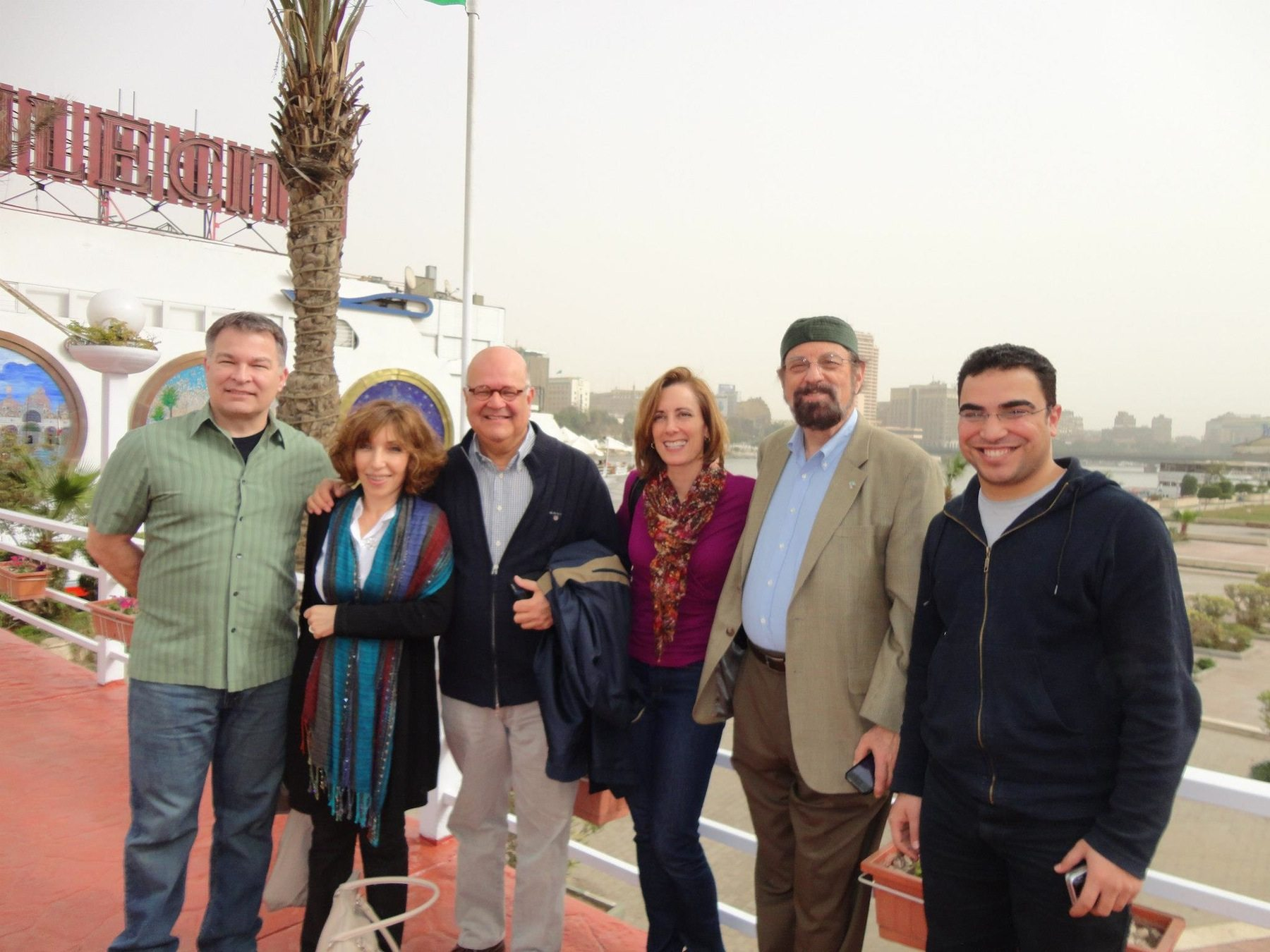 Mr. Rash, Mitra Nafissian-Rash and other public health delegates in Cairo